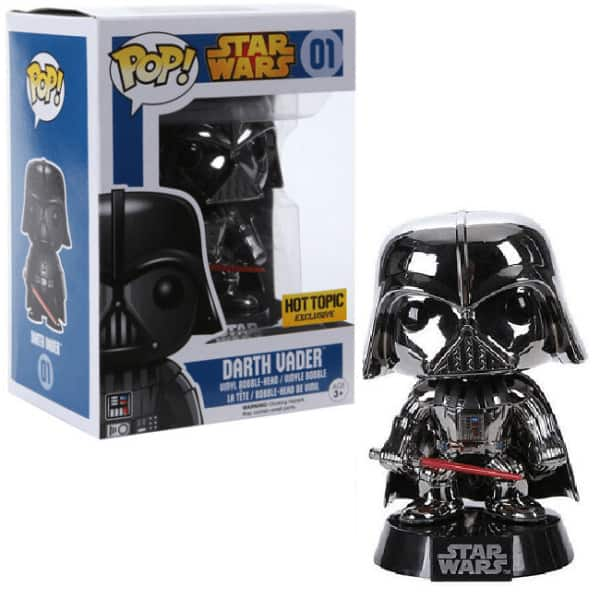 Darth Vader Star Wars Pop Hot Topic Exclusive Chrome Variant