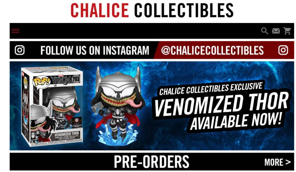 Funko Pop Retailer - Chalice Collectibles
