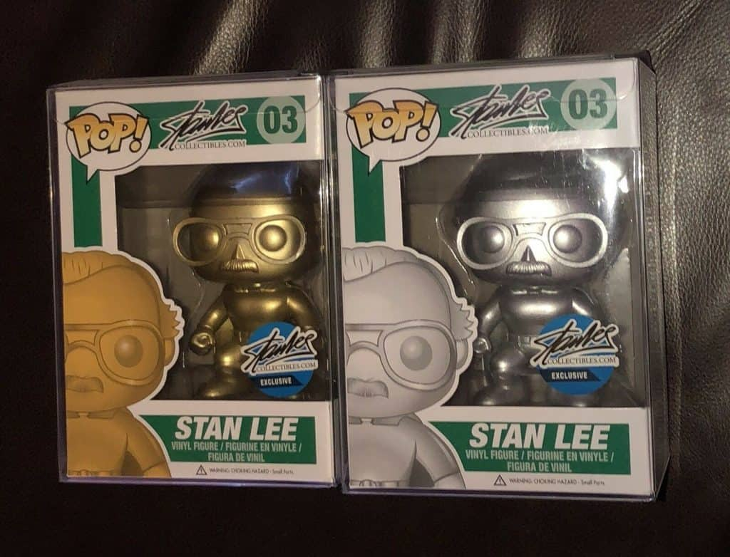 Rare Funko Metallic gold and platinum stan less