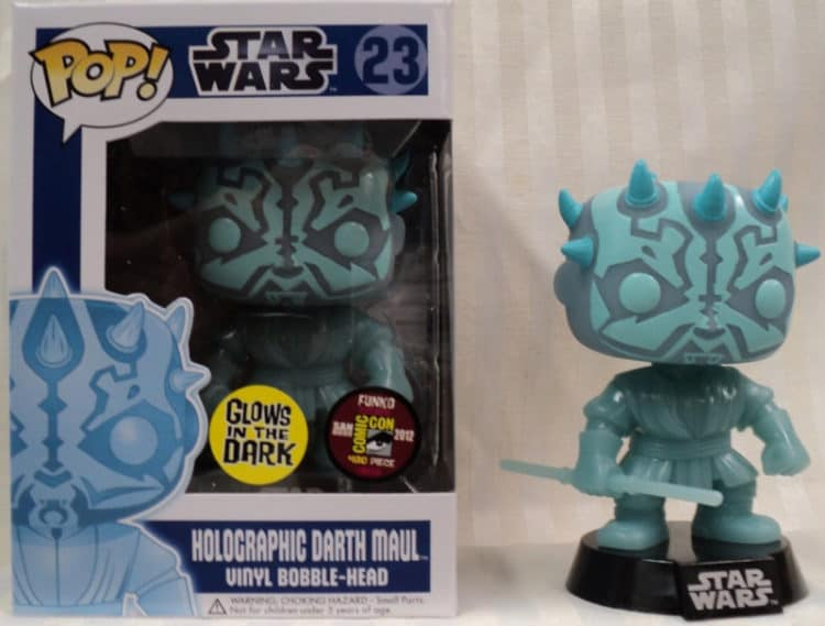 Rare Funko Pops Star-Wars-Darth-Maul-Holographic