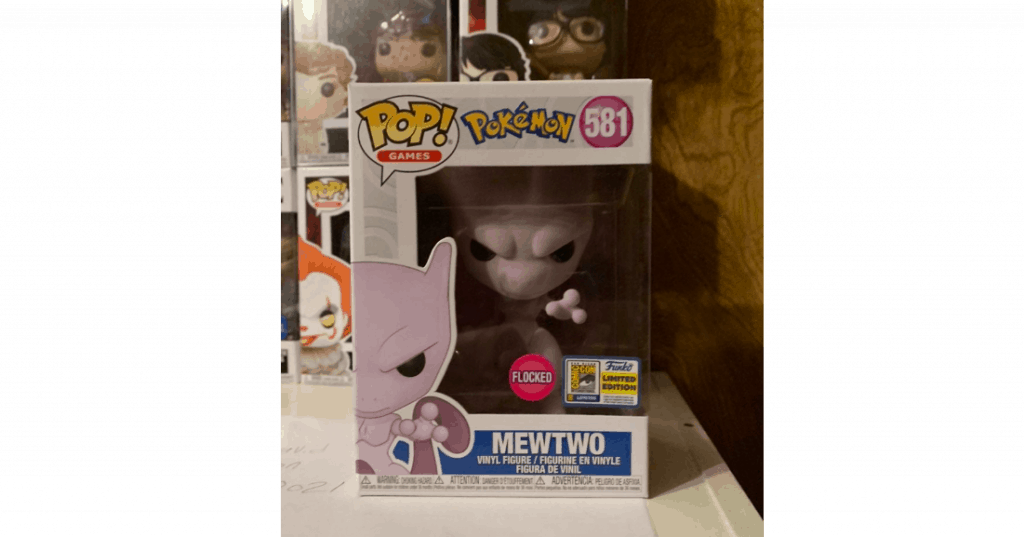 MewTwo Flocked Pop