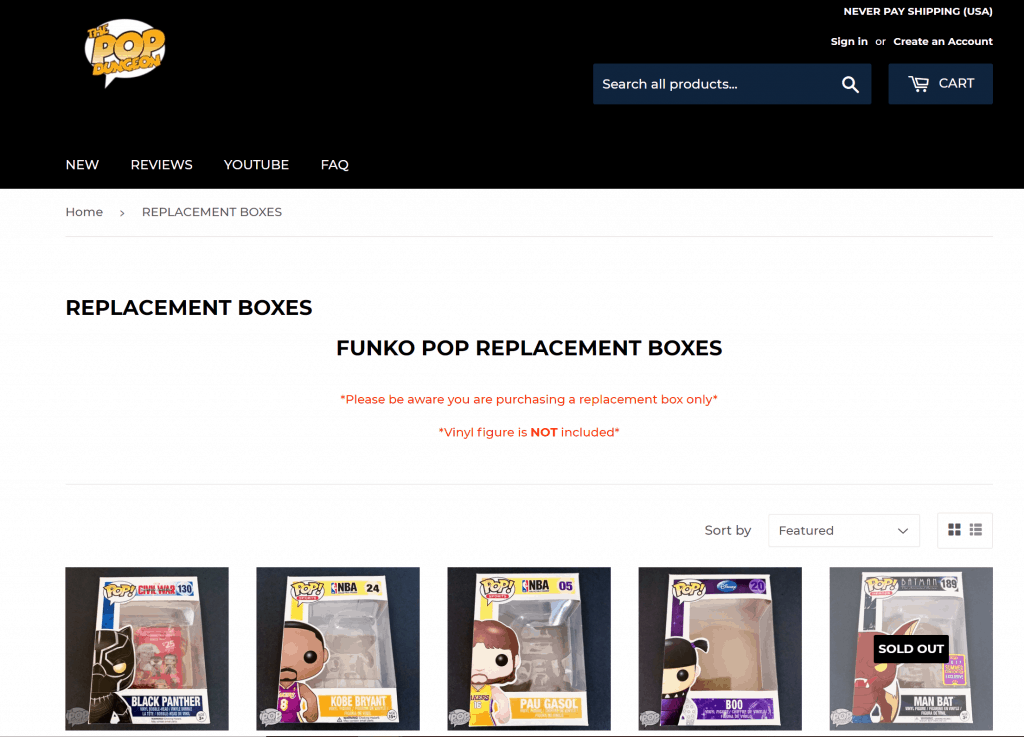 Replacement funko stickers